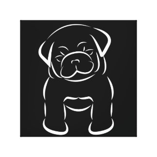 Cute Baby Pug Stretched Canvas Prints