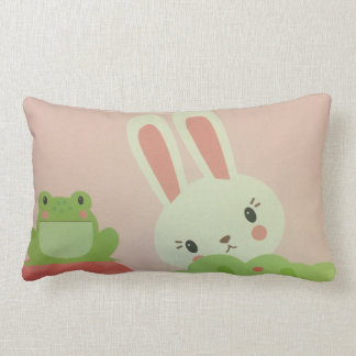 cute  Baby rabbit and toad pillow