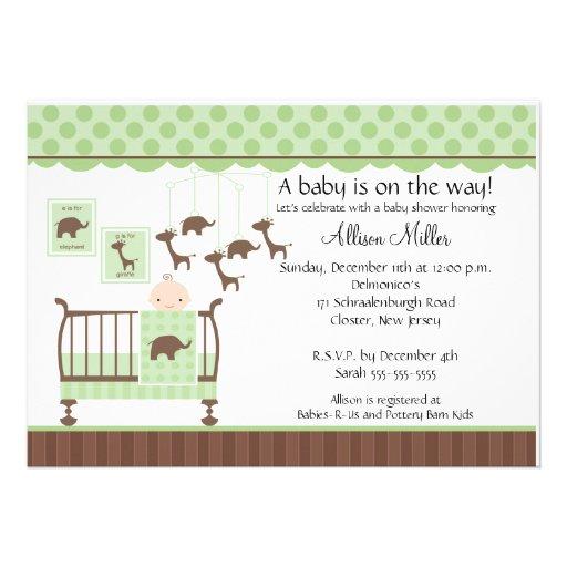 Cute Baby room Neutral Baby Shower Invitation 13 Cm X 18 Cm Invitation Card   Zazzle