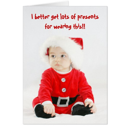 Cute Baby Santa Christmas Card