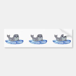 Cute baby seal cartoon bumper sticker