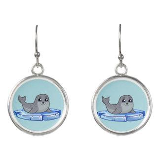 Cute baby seal cartoon earrings for girls
