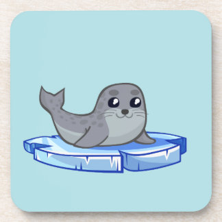 Cute baby seal cartoon kids beverage coaster