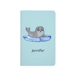 Cute baby seal cartoon kids journals