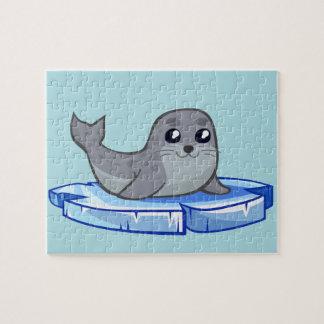 Cute baby seal cartoon kids puzzles