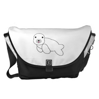 Cute baby seal commuter bag