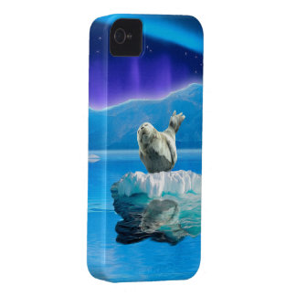 Cute Baby Seal Fantasy Art Wildlife Supporter iPhone 4 Case-Mate Case