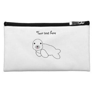 Cute baby seal makeup bag