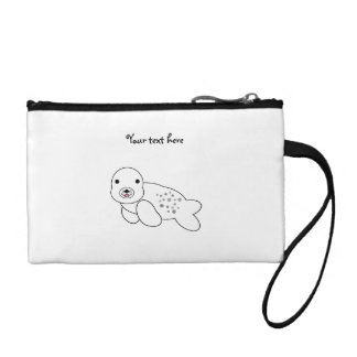 Cute baby seal pup coin purses