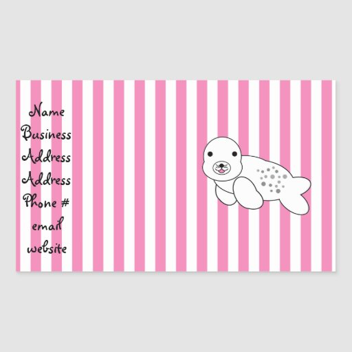 Cute baby seal pup sticker
