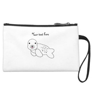 Cute baby seal pup wristlet purses