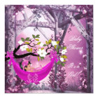 Cute Baby Shower Girl Baby Pink Hammock Magical Card