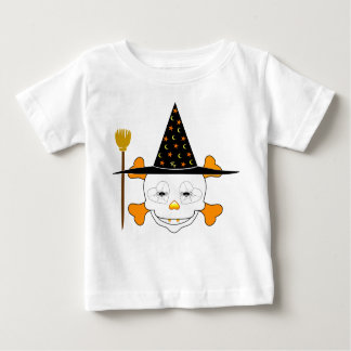 Cute Baby Skull Witch Baby T-Shirt