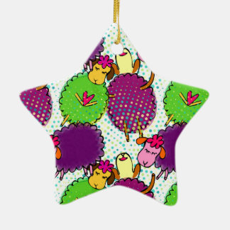 Cute baby sleeping sheep doddles christmas ornament
