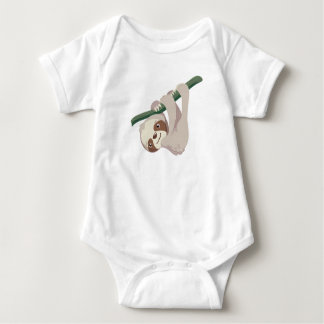 Cute Baby Sloth on a Branch Baby Bodysuit