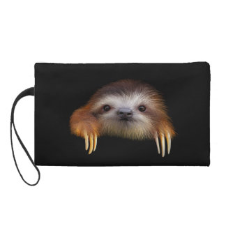 Cute Baby Sloth Wristlet