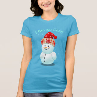 Cute Baby Snowman With Christmas Hat T-Shirt