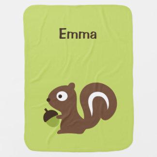 Cute Baby Squirrel Design Baby Blanket