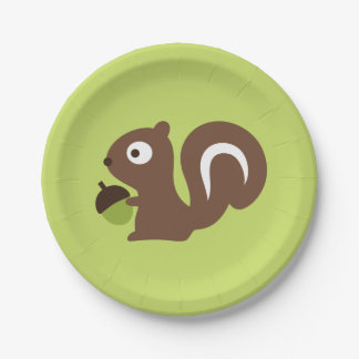 Cute Baby Squirrel Design Paper Plate