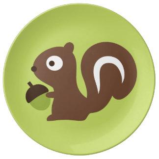 Cute Baby Squirrel Design Plate