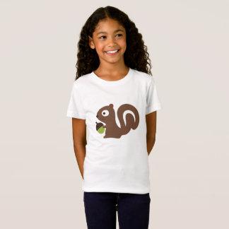 Cute Baby Squirrel Design T-Shirt