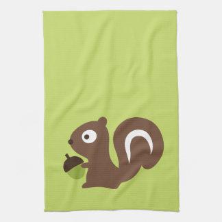 Cute Baby Squirrel Design Tea Towel