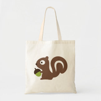 Cute Baby Squirrel Design Tote Bag