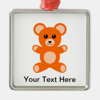 Cute Baby Teddy Bear Christmas Ornament