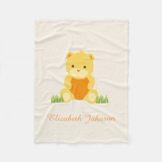 Cute Baby Teddy Fleece Baby Blanket