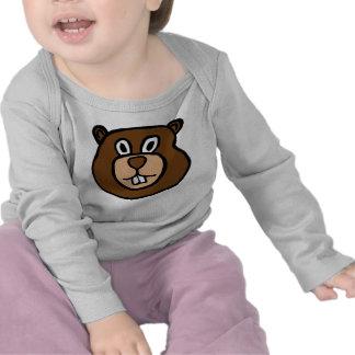 Cute Baby Tee Shirt Beaver
