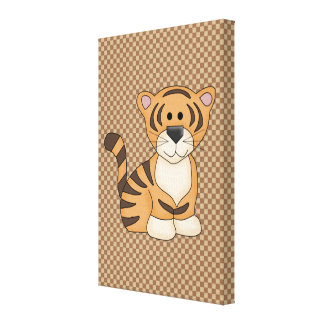 Cute Baby Tiger Stretched Canvas Prints