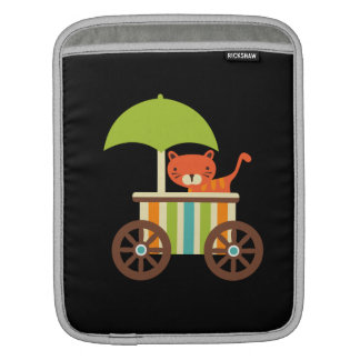 Cute Baby Tiger on Black Gifts for Kids Baby iPad Sleeves