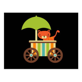 Cute Baby Tiger on Black Gifts for Kids Baby Postcard