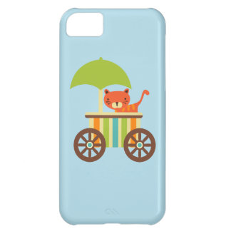Cute Baby Tiger on Ice Cream Cart Kids Gifts iPhone 5C Case