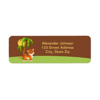 Cute Baby Tiger Return Address Labe Return Address Label