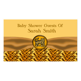 Cute Baby Tiger Stripes Baby Shower Double-Sided Standard Business Cards (Pack Of 100)