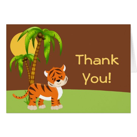 Cute Baby Tiger Thank You Card