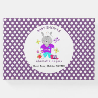 Cute Baby Toy Bunny Rabbit Baby Shower Guest Book
