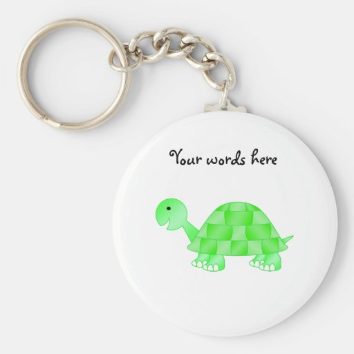Cute Baby turtle in light green Key Chains