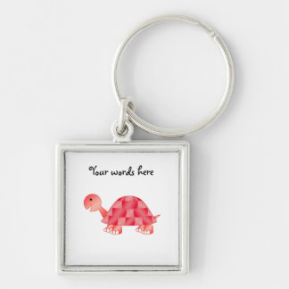 Cute Baby turtle in red Key Chains