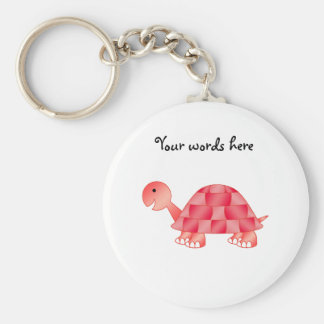 Cute Baby turtle in red Keychains