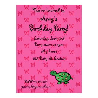 "Cute baby turtle 6.5"" x 8.75"" invitation card"