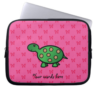 Cute baby turtle laptop sleeve