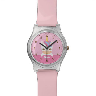 Cute Baby Unicorn Girls Kids Personalized Watch