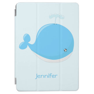 Cute baby whale kawaii cartoon kids iPad air cover