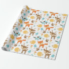 Cute Baby Woodland Animals Wrapping Paper