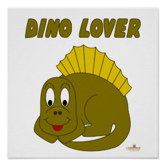 Cute Baby Yellow Dinosaur Dino Lover Poster