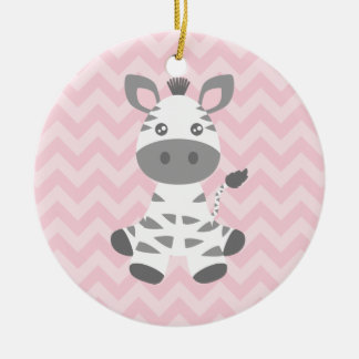 Cute Baby Zebra Christmas Ornament
