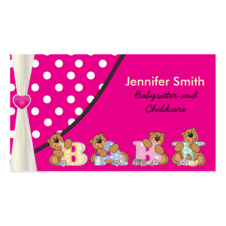 Cute Babysitter or Childcare Pack Of Standard Business Cards