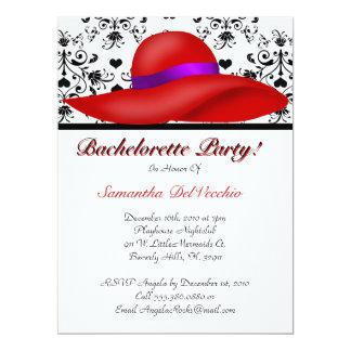 """CUTE Bachelorette Party Design 6.5"""" X 8.75"""" Invitation Card"""